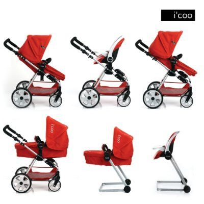 Hauck Doll Stroller Pram I'coo Grow With Me Play Set 4 in ...