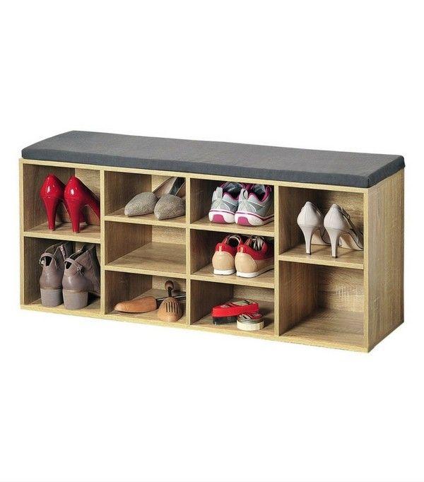 Les 25 meilleures id es de la cat gorie bancs de stockage de chaussures sur pinterest banc de for Rangement chaussures gain de place