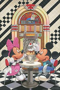 Mickey Mouse - Sundae for Two - Manny Hernandez - World-Wide-Art.com - $495.00