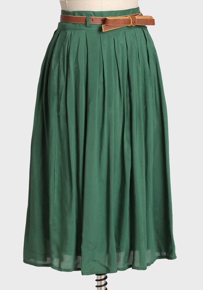 Skirt Midi Blossom city Southern Green  In balenciaga velo
