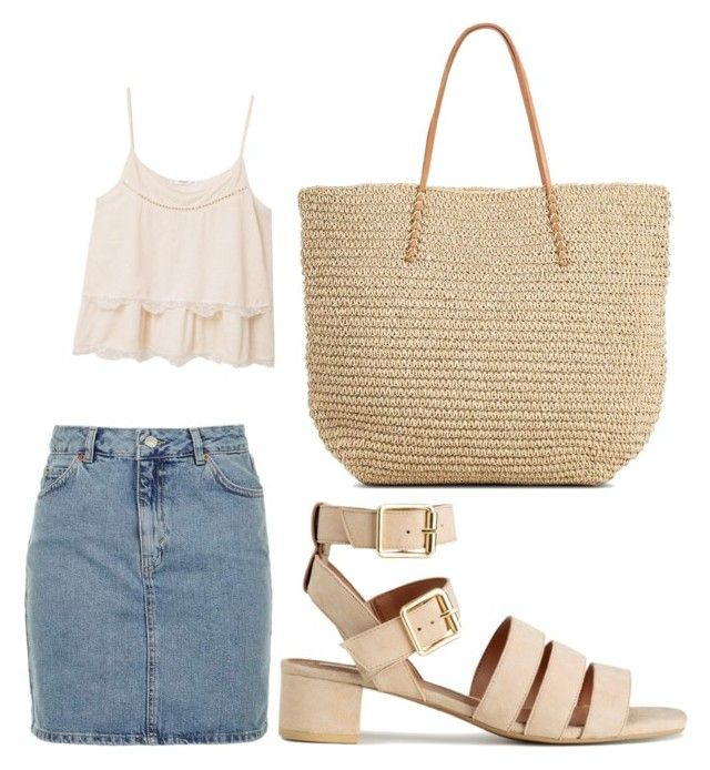 """""""BeigeLook"""" by palsanchez on Polyvore featuring Topshop, MANGO and Target"""