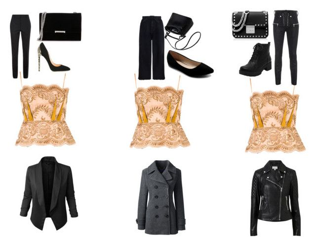 """""""One Top - Three Styles"""" by gothicvamperstein on Polyvore featuring STELLA McCARTNEY, Witchery, Jupe de Abby, Lands' End, Unravel, Zimmermann, Victoria Beckham, Ivanka Trump, MICHAEL Michael Kors and Cerasella Milano"""