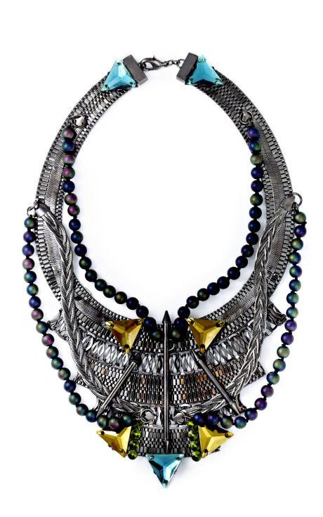 Fenton Vanderbilt Bib Necklace ...Perfect to wear with Yellow <3