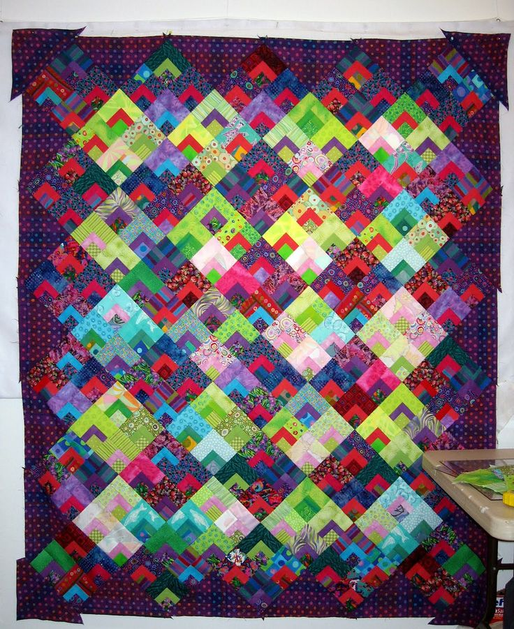 "Leaping Light Blocks! unquilted top, 64x78"" Cotton, machine pieced:"
