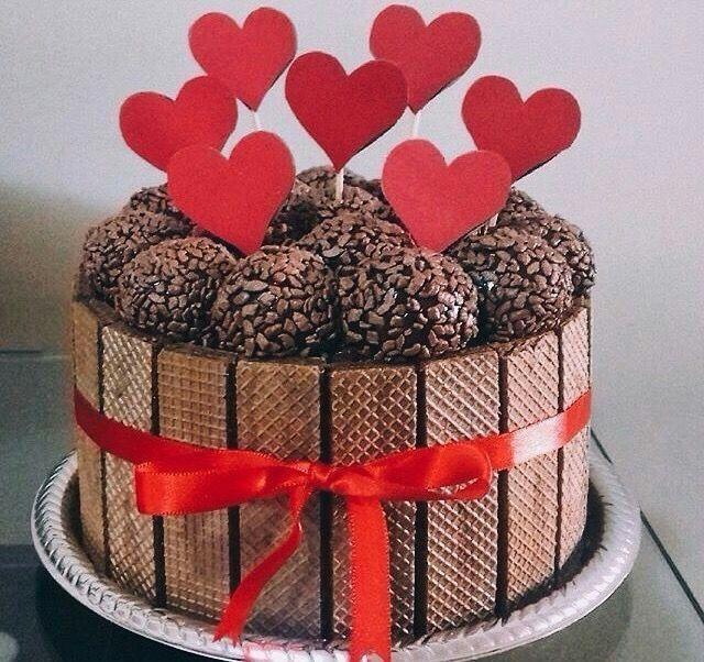 Pin De Diana Masso Em Cakes Com Imagens Bolo Dia Dos Namorados