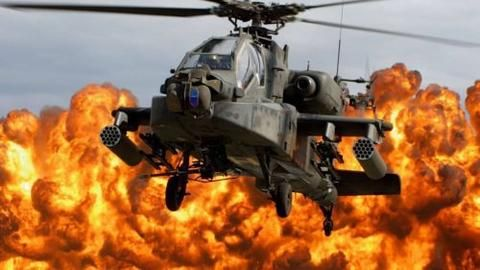 Apache AH-64, attack helicopter, US Army, U.S. Air Force  Canvas Print
