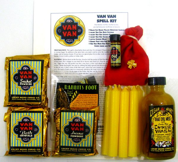 CLEANSING: -- Van Van is an old hoodoo formula for oil, incense, sachet powders, and washing products that are designed to clear away evil, provide magical protection, open the road to new prospects, change bad luck to good, and empower amulets and charms.