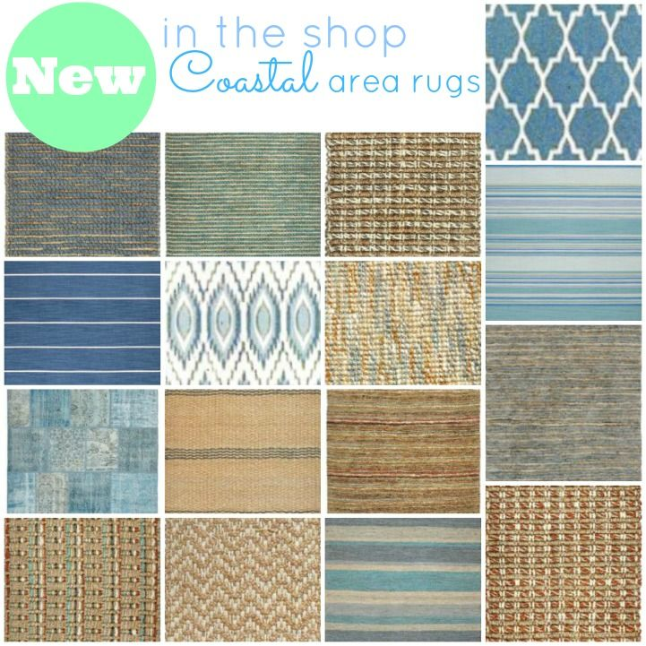 New in the shop- coastal area rugs