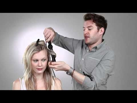 how to curl hair using a curling wand.