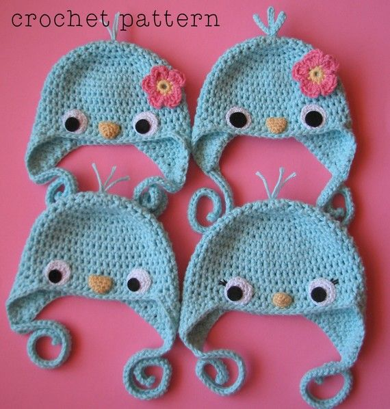 Crocheted Baby Bluebird Hat! LOVE