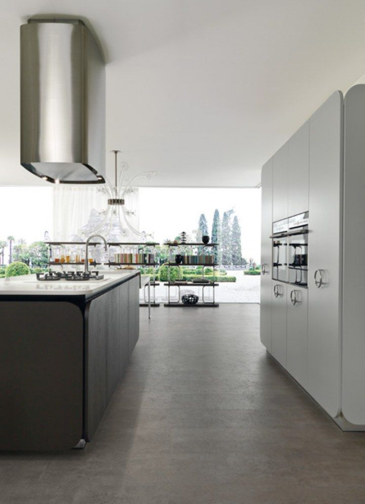 IT-IS Kitchen Design by Simone Micheli for Euromobil - Architecture & Interior Design Ideas and Online Archives | ArchiiiArchiii