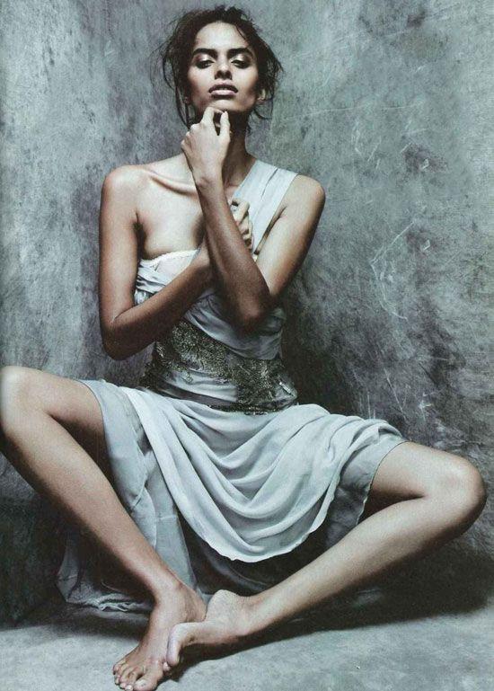 Lakshmi Menon wearing Alberta Ferretti in Vanity Fair Italia September 2011 (photography: Rafael Stahelin, styling: Ye Young Kim) via Fashioned by Love #albertaferreti #fashion #editorials