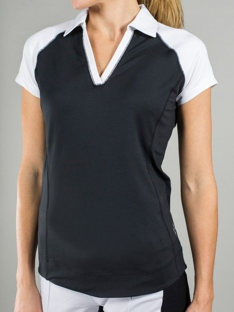Martini (Black & White) JoFit Ladies Jo Tech Golf Shirt available at Lori's Golf Shoppe
