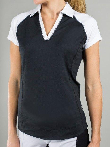 Martini (Black & White) JoFit Ladies Jo Tech Golf Shirt available at Lori's Golf Shoppe