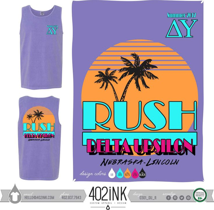 #402ink #402style 402ink, Custom Apparel, Greek T-shirts, Sorority T-shirts, Fraternity T-shirts, Greek Tanks, Custom Greek Apparel, Screen printed apparel, embroidered apparel, Fraternity, DU, Delta Upsilon, Rush