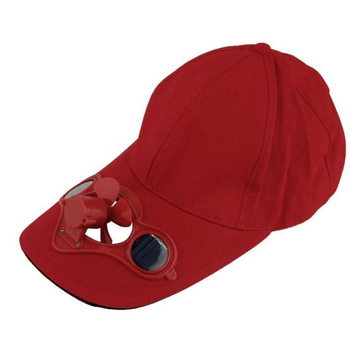 Fishing Summer Solar Power Fan Hat Cap Sport Outdoor Hat Cap with Solar Sun Power Cool Fan For Cycling New Brand