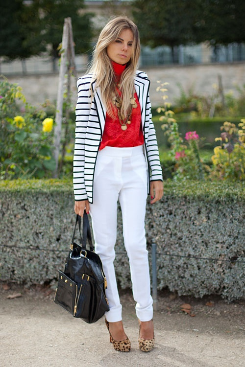 STREET STYLE SPRING 2013: PARIS FASHION WEEK - We love this girl's way with white for fall.