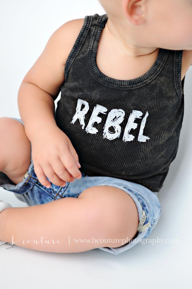 Rebel Vintage tank in a Black Ribbed 100% Cotton.