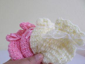 Como tejer mitones o guantes lechuza para bebé recien nacidos principiantes - YouTube