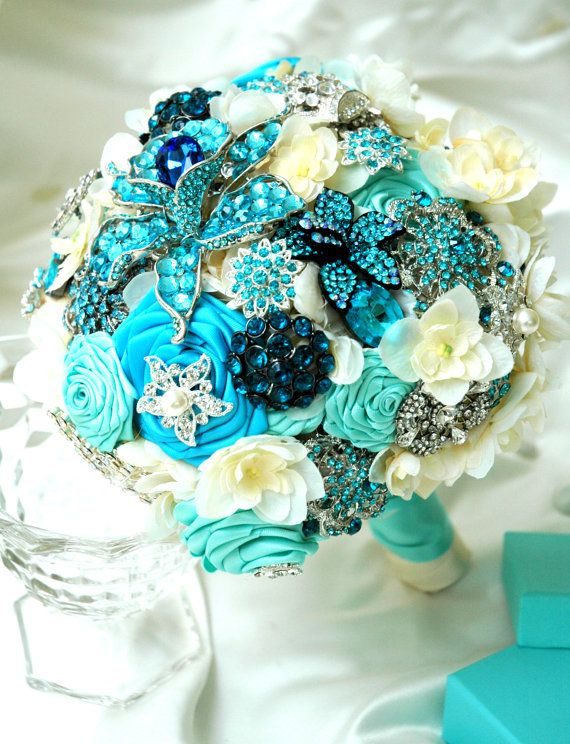 Pool Blue Wedding Bouquets : Best images about tiffany blue bridal shower on