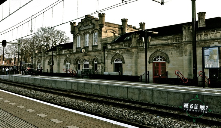 The oldest, still working trainstation in the Netherlands. Station Valkenburg aan de Geul. Zuid-Limburg, the Netherlands.