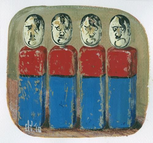 Fane Flaws ... Four Adolfs (limited edition digital print 30) 200 x 200 mm - $170 faneflaws.com