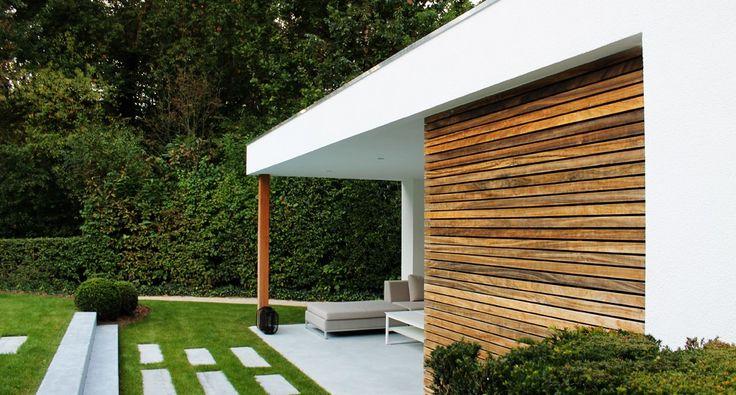 Moderne bijgebouwen crepi pool3 tuin pinterest house - Eigentijds pergola design ...