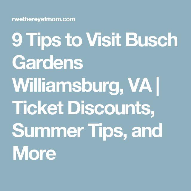 9 tips to visit busch gardens williamsburg va. beautiful ideas. Home Design Ideas