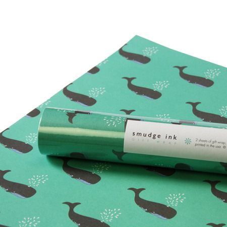 whale wrapping paper by smudge ink: Wrapping Papers, Gifts Handmade, Gift Ideas, Wrappingpaper Whales, Wrapping Ideas, Whale Gift, Ink Wrappingpaper, Whale Wrapping