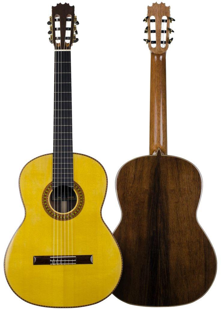 #Flamenco handcrafted #Guitar by Antonio de Toledo. Flamenca model in #Rosewood, buy online in El Flamenco Vive