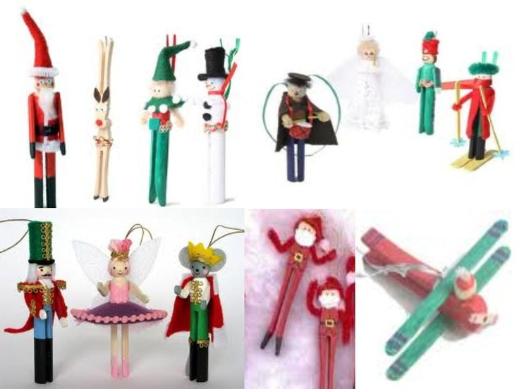 Awesome Clothespin Crafts Christmas Part - 7: Christmas Clothes Pin Ornaments
