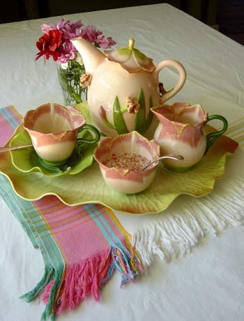 "Romantic Tea Set ~ Camellia Sinensis"" - the tea plant"