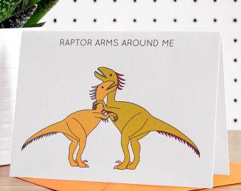 Dinosaur Valentines Day Card Triceratops Love by MudsplashStudios