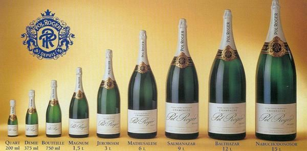 French #Champagne bottle sizes! #wine by @Pol_Roger @PolRoger_NL So what's your perfect sized bottle?