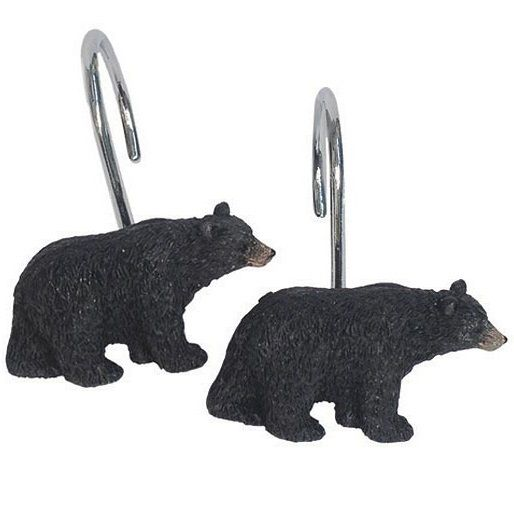 Black Bear Lodge Shower Hooks | Bed Bath | Decor