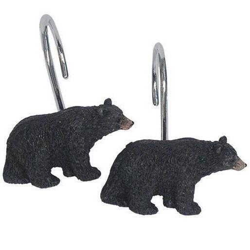 Black Bear Lodge Shower Hooks | Bed Bath | Decor