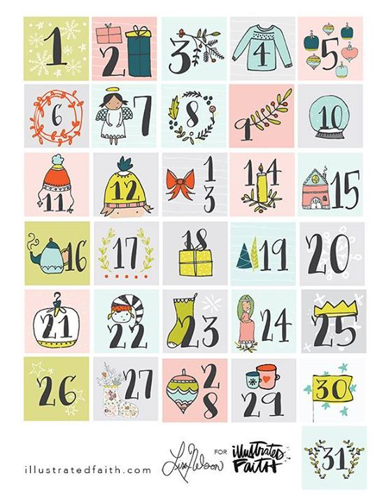 Free Advent Printable from Illustrated Faith