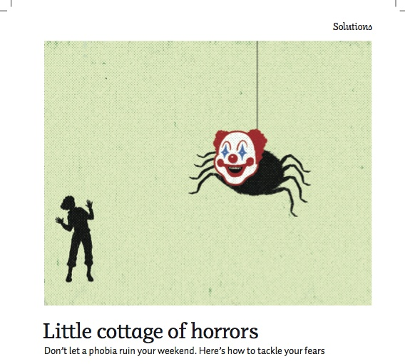 """Silver winner in Spot #Illustration. """"Little #Cottage of Horrors"""" by Dan Page published in Cottage #Life, 2011."""