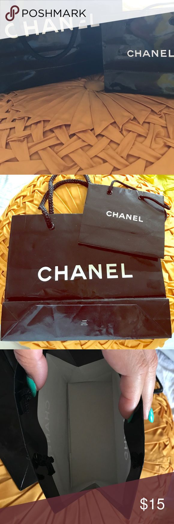 Two authentic CHANEL shopping bags One small and one medium. In good condition! CHANEL Bags