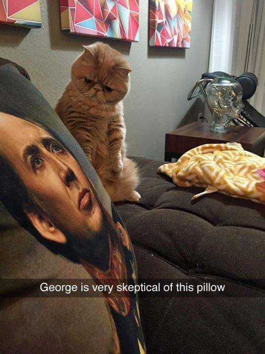 George is very skeptical