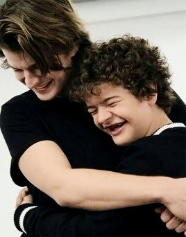 Never watched Stranger Things, but saw a couple clips and liked how these two were together. Plus, bro hugging poses are rare!