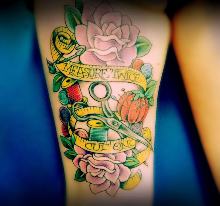 Tattoo Designs That Will Make You Want To Put Them All: 17 Best Ideas About Sewing Tattoos On Pinterest
