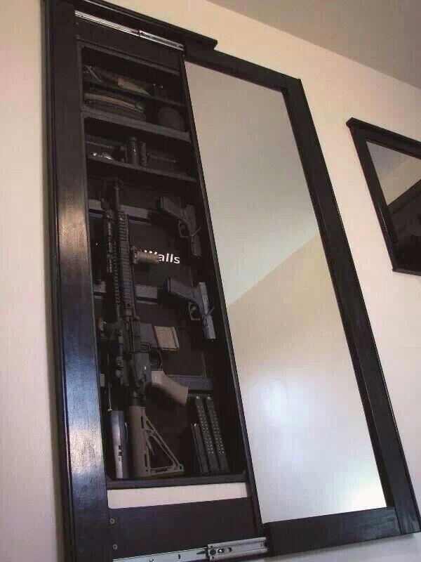 Storage In Wall Between Studs Gun Hidden Secret Google