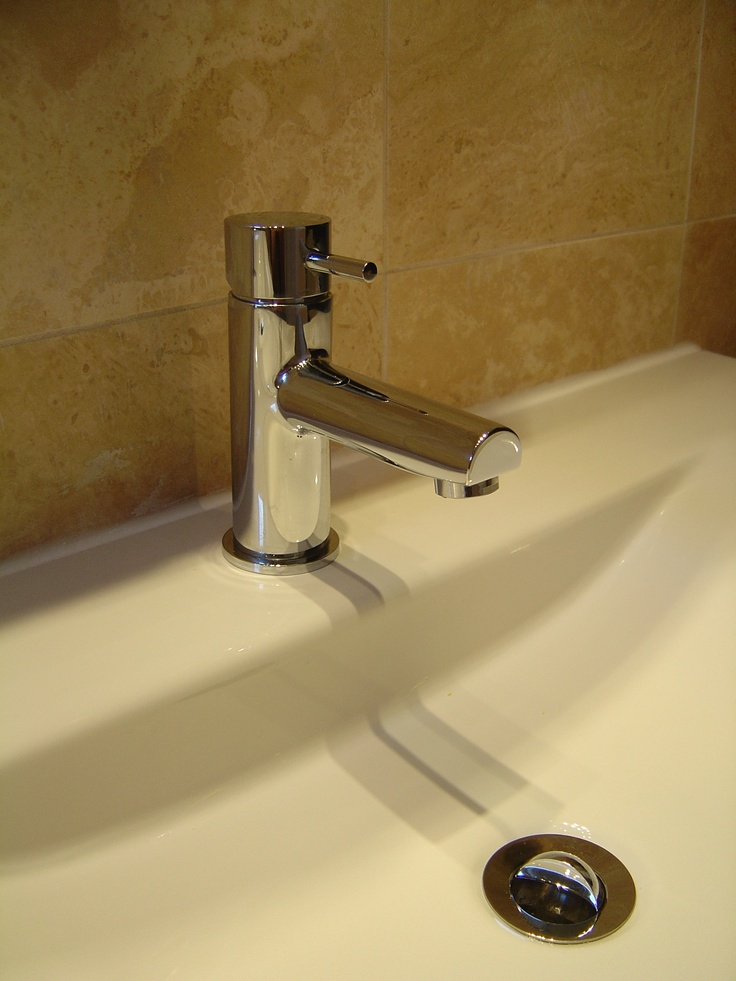 No decent bathroom can be without a posh tap!