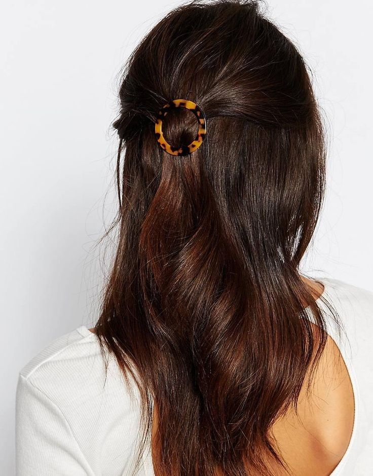 Orelia | Orelia Tortoiseshell Round Hair Clip at ASOS