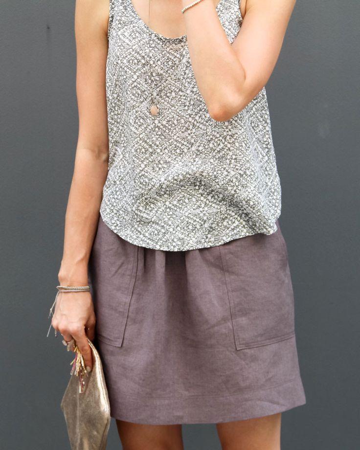 Cali Faye Collection Basics . Pocket Skirt . womens Pattern and Tutorial