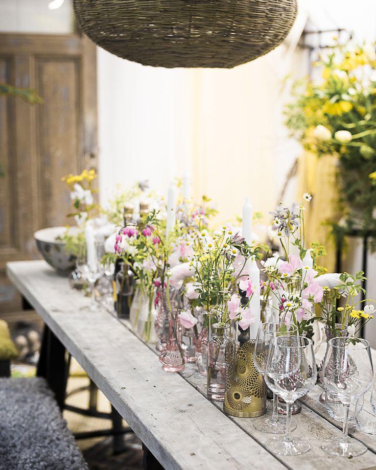 Nordiska Trädgårdar dukning med blommor