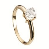 Ring i forgyldt sølv med firkantet sten - Kranz & Ziegler