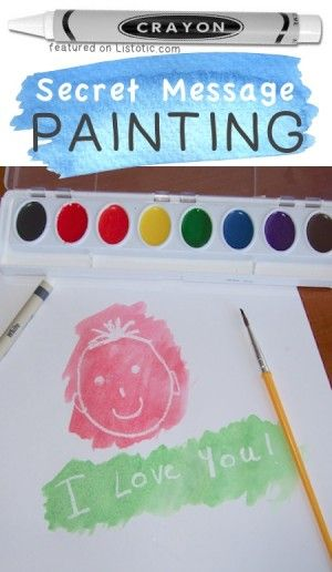Secret Message Painting -- 29 of the MOST creative crafts and activities for kids!