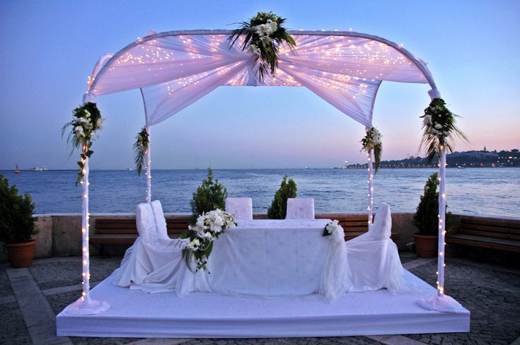 ☆☆☆Beach Wedding☆☆☆Decor Ideas, Romantic Wedding, Wedding Beach, Beach Wedding Decor, Wedding Ideas, Outdoor Wedding Decor, Wedding Locations, Head Tables, Outdoor Receptions